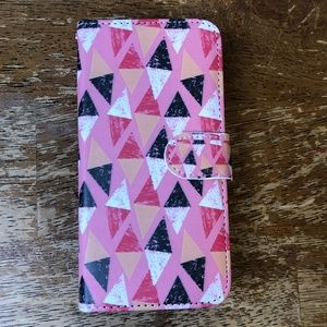 Other - Pink Geometric Wallet Folio Phone Case Iphone 6